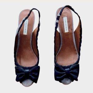 💥PRICE⬇️ NWT Zara Suede Kitten Heels w/ leather